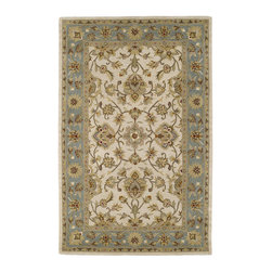 """Kaleen - Kaleen Khazana Collection 6561-01 2'3""""X7'6"""" Ivory - Craftsmanship and outstanding value is the definition of Khazana.  These fine rugs are hand tufted using only the finest 100% virgin wool and are available in a selection of classical or contemporary designs. The collection offers an array of fashionable colors to meet all your decorating needs. Hand crafted in India."""