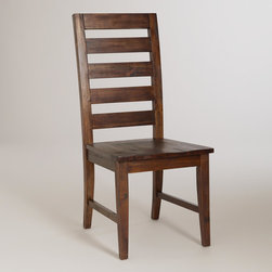 World Market - Francine Dining Chairs, Set of 2 - With vintage-inspired ladder seat backs, our industrial-chic Francine Dining Chairs look as though they were discovered in an old barn. Constructed of solid acacia wood, these chairs feature a distressed finish that brings an unexpected, pronounced beauty to each one.