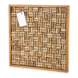Wine Enthusiast - Wine Enthusiast 22-Inch x 22-Inch Cork Board - Ideal for the wine lover in your life, this bulletin board comprised of the corks from your favorite bottles is useful and unique. It will make an eye-catching accent in your kitchen, home office, home bar or wine cellar.