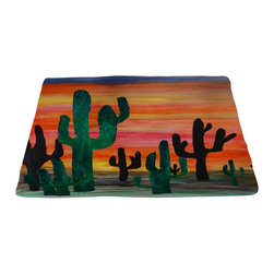 xmarc - Garden Area Plush Area Rugs From Original Art, Desert Sunset, Desert Sunset, 96 - Desert Sunset garden area plush area rugs from original art. Tree frogs, dragonflies, flowers, lady bug, butterflies.