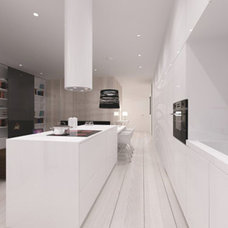 Scandinavian Style Apartment with Bright White Decoration: White-kitchen-cabinet