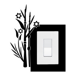 StickONmania - Lightswitch Plants #1 Sticker - A vinyl sticker decal to decorate a lightswitch.  Decorate your home with original vinyl decals made to order in our shop located in the USA. We only use the best equipment and materials to guarantee the everlasting quality of each vinyl sticker. Our original wall art design stickers are easy to apply on most flat surfaces, including slightly textured walls, windows, mirrors, or any smooth surface. Some wall decals may come in multiple pieces due to the size of the design, different sizes of most of our vinyl stickers are available, please message us for a quote. Interior wall decor stickers come with a MATTE finish that is easier to remove from painted surfaces but Exterior stickers for cars,  bathrooms and refrigerators come with a stickier GLOSSY finish that can also be used for exterior purposes. We DO NOT recommend using glossy finish stickers on walls. All of our Vinyl wall decals are removable but not re-positionable, simply peel and stick, no glue or chemicals needed. Our decals always come with instructions and if you order from Houzz we will always add a small thank you gift.
