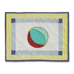 Patch Magic - Summer Fun Crib Toss Pillow - 16 in. W x 12 in. LHandmade, Hand quilted Crib Toss Pillow made from 100% Cotton. Machine washable, but for best care hand wash in cold water. Do not machine dry. Do not dry clean.