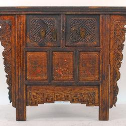 Antique Chinese Locking Coffer Cabinet - Antique Chinese Locking Coffer Cabinet