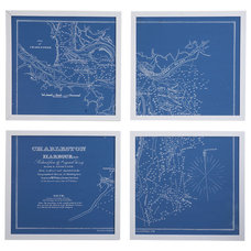 traditional artwork Framed Nautical Charts