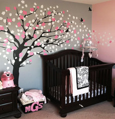 modern nursery decor Cherry Blossom Tree - Elegant Style Wall Decal