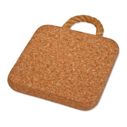 The Felt Store - Cork Trivet With Rope (200 X 200 X 20mm) - The Felt Store's Cork Trivets with Rope are a great eco-friendly addition to your kitchen and dining areas. This naturally stylish trivet features a neat rope handle that adds to the character and function of the trivet. Made of 100% fine grain cork the trivet is an essential part of your kitchen and dining collection for the eco-conscious! This Cork Trivet with rope is a perfect way to protect your table and various surfaces from hot pots, pans and dishes in your kitchen and dining area! Serve your food in style with our Cork Trivets available in different shapes and sizes and can be easily stored away in any drawer or hung on the wall as art! This product can be wiped clean with a damp cloth. This product is approximately 8 inches long and wide and 0.75 inches thick in dimension.