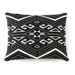 Black and White All Over Pillow - What's black and white all over? Nope, not a newspaperthis stylish pillow, recalling traditional Central American weavings, that will fit into any nook in your home.