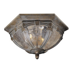 Vaxcel - Essex Outdoor Flush Mount - Vaxcel OF38713RBZ Essex Royal Bronze Outdoor Flush Mount