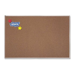 Quartet Premium Colored Cork Bulletin Board with Aluminum Frame - 96 x 48 in. - About QuartetQuartet knows that you just have to write it down or you'll forget. They've been in the whiteboard, bulletin board, and chalkboard business since 1945 and have perfected the art of the perfect surface. Today, they boast a full line of visual communication products used at home, in the office, in hospitals, and in schools across the country. When you're looking for a product to help you communicate, you're looking for Quartet.