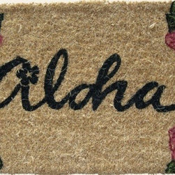 """CocoMatsNMore - CocoMatsNMore Aloha Design Coco Doormats - 18"""" X 30"""" - Eco-friendly Coco Mat are hand-woven and  made from 100% natural coir . These coco doormats are designed to last for a long time and are easy to maintain and clean by either shaking or hosing it down. Designed with fade-resistant dyes they are durable enough to withstand the harshness of weather and look good througout the year. Furthermore, they keep your house clean by doing a fabulous job of trapping the dirt, mud and debris right at the doorstep."""