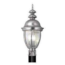 Vaxcel - Capitol Stainless Steel Outdoor Post Light - Vaxcel OP1515BN Capitol Stainless Steel Outdoor Post Light
