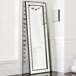 Antique Tiled Floor Mirror - This antiqued, tiled mirror has a fun, vintage, art deco feel to it. It would be great in a bathroom that already sports some interesting tilework — think black and white checkered floors or a claw-foot tub.