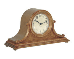 HERMLE - Scottsville Mantel Clock With Quartz Movement and Classic Oak Finish - Uniquely styled tambour clock features: