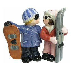 WL - Kitchenware Snowboard and Skier Salt and Pepper Shakers - This gorgeous 3.75 Inch Kitchenware Snowboard and Skier Salt and Pepper Shakers has the finest details and highest quality you will find anywhere! 3.75 Inch Kitchenware Snowboard and Skier Salt and Pepper Shakers is truly remarkable.