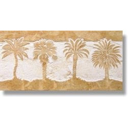 Palms Listello 6x12 - Design: Palms Listello 6x12