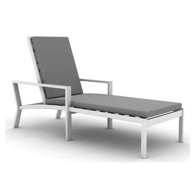 Parkview Cast Single-Chaise Lounge By Koverton - Perfect for lounging all day by a sparkling pool, the Parkview Cast Single Chaise Lounge exudes an easy sophistication with it is circle motifs and clean lines. A new interpretation of the classic outdoor lounge, it is ideal for anyone who craves elegant design inside and outside the home.