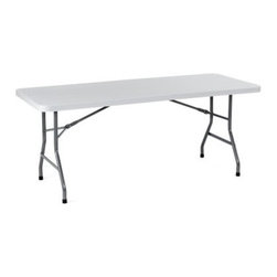 Boss BT3072 Molded Folding Table - Gray/Black - About Boss Office ProductsWilliam Huang, Boss Office Product's CEO, established the Los Angeles-based company in 1990. The company began as an importer, distributing Taiwanese-crafted chairs to retailers and dealers throughout the United States. A year later, in 1991, Boss became the first US office chair distributor to establish manufacturing facilities in China, a major step forward for the company, which now has distributors around the globe. In 2003, Boss was ranked as one of Inc. Magazine's 500 fastest growing private companies in America. That tremendous growth continues today, as Boss continually delivers exceptional office products to companies around the world.