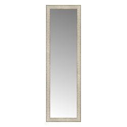 """Posters 2 Prints, LLC - 14"""" x 45"""" Libretto Antique Silver Custom Framed Mirror - 14"""" x 45"""" Custom Framed Mirror made by Posters 2 Prints. Standard glass with unrivaled selection of crafted mirror frames.  Protected with category II safety backing to keep glass fragments together should the mirror be accidentally broken.  Safe arrival guaranteed.  Made in the United States of America"""