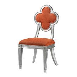 Joshua Marshal - Petal Back Dining Chair In Orange - PETAL BACK DINING CHAIR IN ORANGE