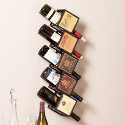 Upton Home - Upton Home Kaden Wall Mount Wine Rack - This art embellished Upton Home wine display features five geometric cubes that store your favorite wine bottles. This functional and organizational wine rack disguises itself as a vintage piece of wall art,making it a lovely gift too.