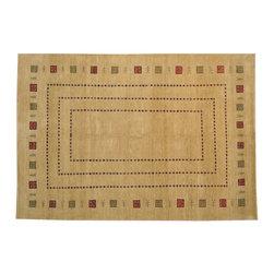 1800-Get-A-Rug - Lori Buft Gabbeh Oriental Rug Hand Knotted Rug Folk Art Sh13187 - About Modern & Contemporary