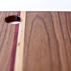 The Cut Collection: Small Rectangular Walnut Cutting Board -