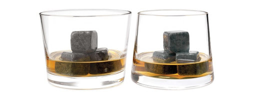 """Whiskey Stones, Set of 9 - For the die-hard Scotch fans: These """"rocks"""" don't melt, so they keep things cool AND """"neat,"""" i.e. they will cool a drink without watering it down."""