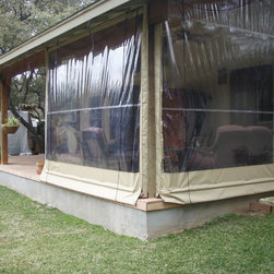 Clear Vinyl Patio Enclosure weather curtains - Lewis residential project - Protect your friends, patio furniture and plants from natures harshest elements.  Wind, rain, hot or cold, let Southern Patio Enclosures help you protect what's most important to you.