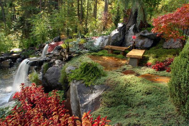 Traditional Landscape by Alderwood Landscape Architecture and Construction