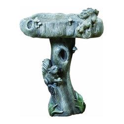 Kelkay - Wildlife Bird Bath - Kelkay Bird Baths and Statues are constructed from durable resin-Stone.