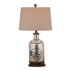 Bassett Mirror Company - Bassett Mirror Brasserie Table Lamp - Mercury Glass - Brasserie Table Lamp - Mercury Glass - L2673T.  Product features: . Product includes: Lamp (1). Brasserie Table Lamp - Mercury Glass belongs to Belgian Modern Collection by Bassett Mirror Company.