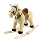 Happy Trails - Rocking Lil Henry the Horse - Wood Core. Age: 2-3 years. Color: Tan. 28.5 in. L x 13 in. W x 23.38 in. H (6 lbs.)