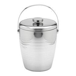 Kraftware - Groove 4-qt. Polished Ice Bucket - 10 in. W x 10 in. D x 12 in. H (4 lbs.)
