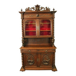 EuroLux Home - Consigned Antique Oak Hunting Buffet France - Product Details