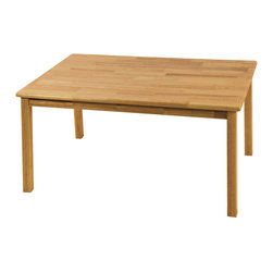 "Ecr4kids - Ecr4Kids Children Playroom 30""X48"" Rectangular Hardwood Table W/22"" Legs - 30x48 Rectangular Hardwood Table (22 Legs) A classic edition to any classroom, playroom, library, or common area, this durable, solid hardwood table is attractive and built to last. Tabletops are beautiful, easy-to-clean, and have smooth, rounded edges for style and safety. Features a 34 thick hardwood tabletop, solid hardwood legs (1-34 square). Note Additional chairs available - sold separately."