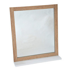 Bathroom Wall Mirror with Shelf Stockholm Oak - This bathroom wall mirror Stockholm has a medium-density fiberboard frame (MDF). It features a painted oak-finish shelf, ideal for toiletries and decorative bath items. Handy and handsome, it will be a welcomed addition to your bathroom decor! Easily fixed to the wall or tile wall, the mounting hardware is included. It has a surface mount that cannot be recessed into the wall. Length 18.9-Inch, height 21-Inch and depth of the shelf 3.9-Inch. Color brown. This lovely wall mirror will make a wonderful finishing touch to any bathroom or any living room. Complete your Stockholm decoration with other products of the same collection. Imported.