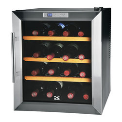 Kalorik - Temperature-control Wine Cooler - You don't have to be a connoisseur when it comes to wine to know how important temperature can be to ensure a peak-flavor glass. This little cooler seems like the perfect starting point for someone looking to get serious about wine. It holds 16 bottles, doesn't take up much space, and the price point is likely less than the total amount paid for the bottles it will house. Not bad!