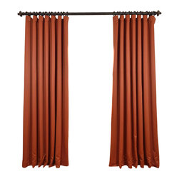 """Exclusive Fabrics & Furnishings, LLC - Blaze Doublewide Blackout Curtain - SOLD PER PANEL. 100% Polyester. 3"""" Pole Pocket with  Back Tabs. Unlined. Imported. Weighted Hem. Dry Clean Only."""