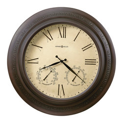 "Howard Miller - Howard Miller Indoor and Outdoor 28"" Gallery Clock 