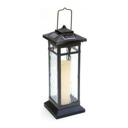 Unbranded - Outdoor Lighting. Roman Bronze Solar LED Lantern (1-Peice) - Shop for Lighting & Fans at The Home Depot. Solar powered Table top lantern. Elegant design with real glass lens. Roman Bronze finish. Multiple functions for table top, pool side, deck, walkway and more. Rechargeable and replaceable battery(s) included.