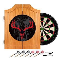 Trademark Global - Trademark Global Hunt Skull Bristle Dart Cabinet Set Multicolor - HUNT7000-SK - Shop for Darts and Dart Boards from Hayneedle.com! The Trademark Global Hunt Skull Wood Dart Cabinet Set makes a great gift for the hunting and gaming enthusiast in your family. This handsome wall-mounted cabinet is made from rich solid pine and comes with red-and-black staghorn design on the front that's sure to garner attention. The dartboard is 18-inches in diameter and is made from self-healing sisal fiber and comes with six steel-tipped darts. Inside the cabinet doors are a dry-erase scoreboard and outchart to help you keep track; two magnetic dry-erase markers are also included.About Trademark Global Inc.Located in Lorain Ohio Trademark Global offers a vast selection of items for your home and lifestyle. Whether you need automotive products collectibles electronics general merchandise home and garden items home decor house wares outdoor supplies sporting goods tools or toys Trademark Global has it at a price you can afford. Decor items and so much more are the hallmark of this company.