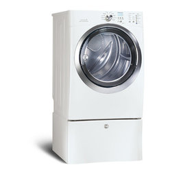 8.0 Cubic Feet Electric Front-Load Dryer with IQ-Touch Controls - A dryer that can also steam your clothes? Yes, please! Nothing would look prettier in my laundry room than this white electric dryer by Electrolux.