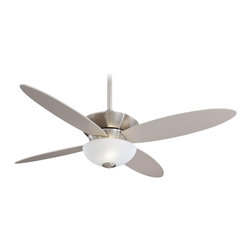 "Minka Aire - Minka Aire F514-BN Zen Brushed Nickel 52"" Modern Ceiling Fan + Remote Control - Features:"