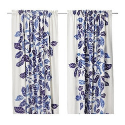 Ikea Stockholm Blad Pair of Curtains, Blue - Do not underestimate the power of a great set of window panels. They can instantly change a space and bring new life into any room.