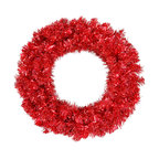 """Vickerman - Red Wreath 50Red Lts 180T (24"""") - 24"""" Red Wreath  50 Red Mini Lights, 180 PVC Tips"""