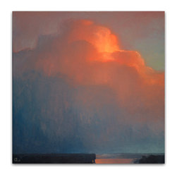 """Mantle Art Company - Bowman """"Towering Plum"""" Limited Edition canvas - This beautiful, limited edition canvas giclee comes ready to hang. Kansas City, MO artist Rich Bowman is a renowned landscape painter whose work can be found in galleries and private collections throughout the US. Originally from Sherman, Texas, Rich is inspired by the sky and its endless, ever-changing expressions."""