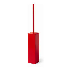 WS Bath Collections - 21.3 in. Toilet Brush Holder in Red - Modern/ contemporary design. Powder coated stainless steel. Designer high end quality. Warranty: 1 year. Made from ceramic, stainless steel, and silicone. Made by Lineabeta of Italy. 3.3 in. W x 3.3 in. D x 21.3 in. H (5 lbs.)Collection Complements from Lineabeta of Italy, unique and fine bath accessories and complements, that provide inspirational solutions for every decor.