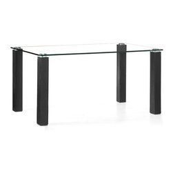 Zuo Modern - Flag Dining Table Black - This Flag Dining Table has classically designed which will never go out of style. This contemporary rectangular glass-topped dining table has a cool sophisticated look. It's the perfect dining table to compliment any dining room.