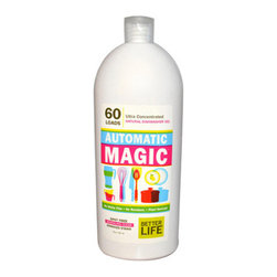 Better Life - Better Life Automatic Magic Dishwasher Gel - 30 fl oz - Get psyched for an all-natural dishwashing liquid. This plant-based cleaner is tough on grit but easy on the environment, just like a dishwashing liquid should be. So if you want to keep toxins and chemicals away from you and your family, then this ecofriendly product is for you.